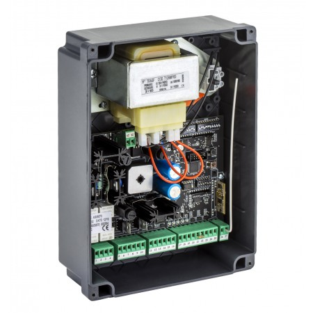 Control unit with embedded radio receiver