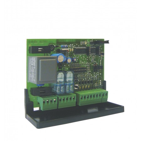 Control unit for central motor shutters with embedded radio receiver